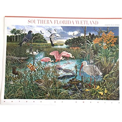 Southern Florida Wetland (Nature of America) Full Sheet of 10 x 39-Cent Postage Stamps, USA 2006, Scott 4099: Toys & Games