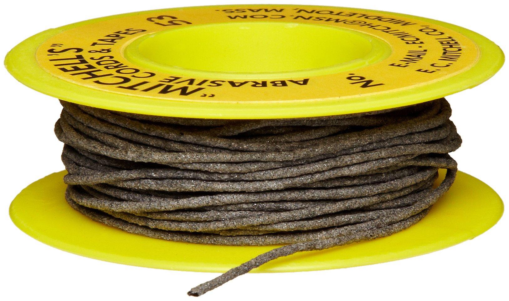 Mitchell Abrasives 53 Round Abrasive Cord, Aluminum Oxide 180 Grit .040'' Diameter x 50 Feet by Mitchell Abrasives