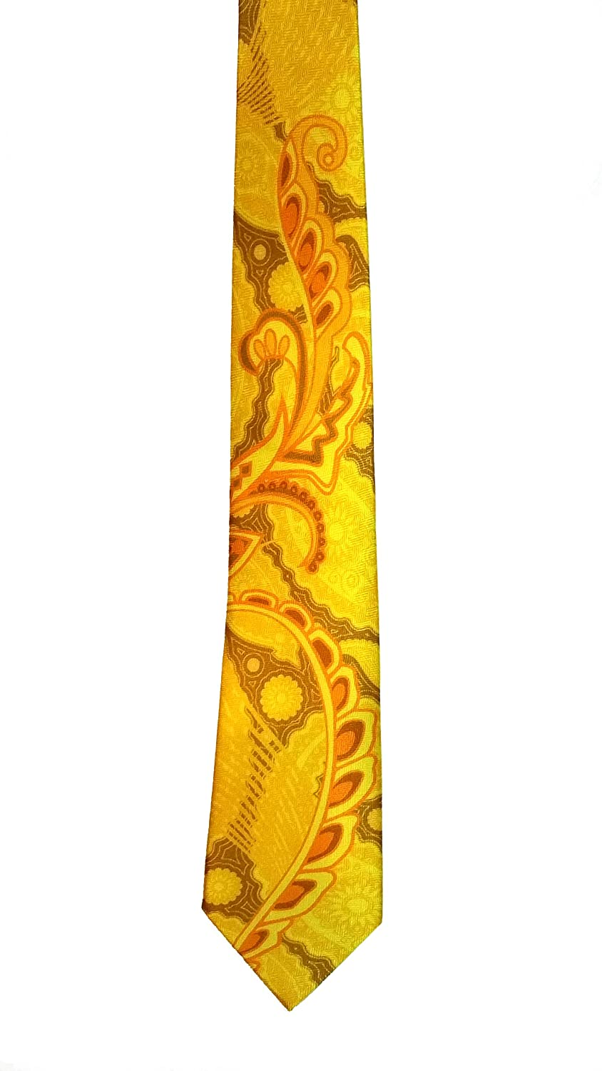 gold Pangborn Profusion Silk Tie in yellow