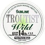 サンライン(SUNLINE) ナイロンライン トラウティスト WILD 150m 3.5号 14lb スーパーマットグリーン