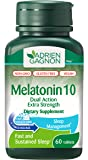 Adrien Gagnon - Melatonin (Extra-Strength Dual Action Time-Release), Fast-Disolving Natural Sleeping Aid, 10mg, 60 Tablets