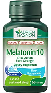 Adrien Gagnon - Melatonin 10 mg (Extra-Strength Dual Action Time-Release)