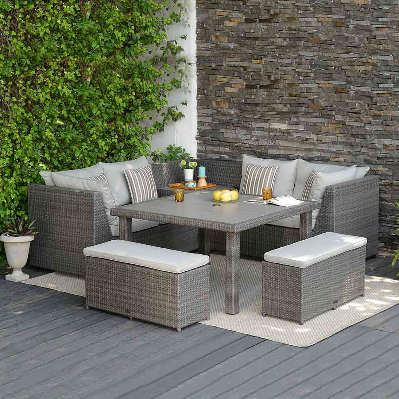 Dining lounge outliv andaman lounge ecke polyrattan for Lounge ecke garten