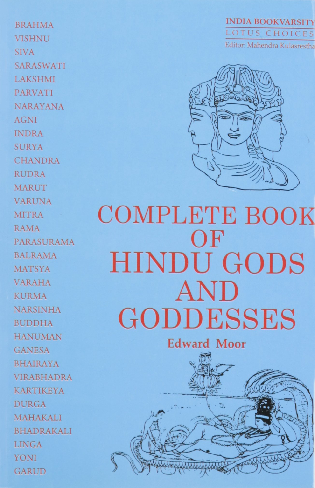 Complete Book Of Hindu Gods And Goddesses Edward Moor