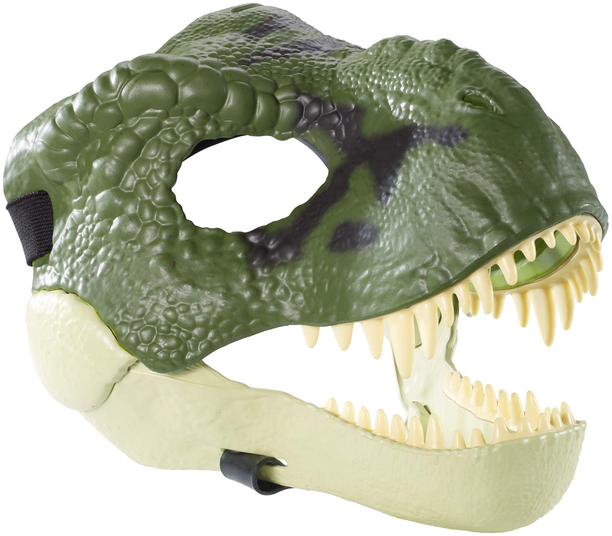 Jurassic World Movie-Inspired Tyrannosaurus Rex Mask with Opening Jaw, Realistic Texture and Color, Eye and Nose Openings and Secure Strap; Ages 4 and Up