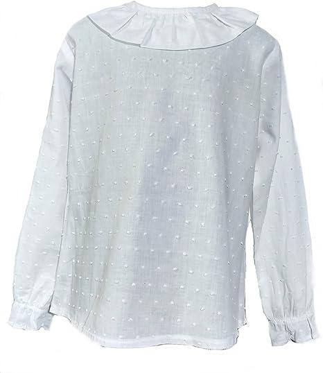 Camisa de Niñas 100% Algodón |Tallas Entre 3 y 10 Años | Blusas de Manga Larga para Niña | Hecha en España con la Máxima Calidad: Amazon.es: Ropa y accesorios