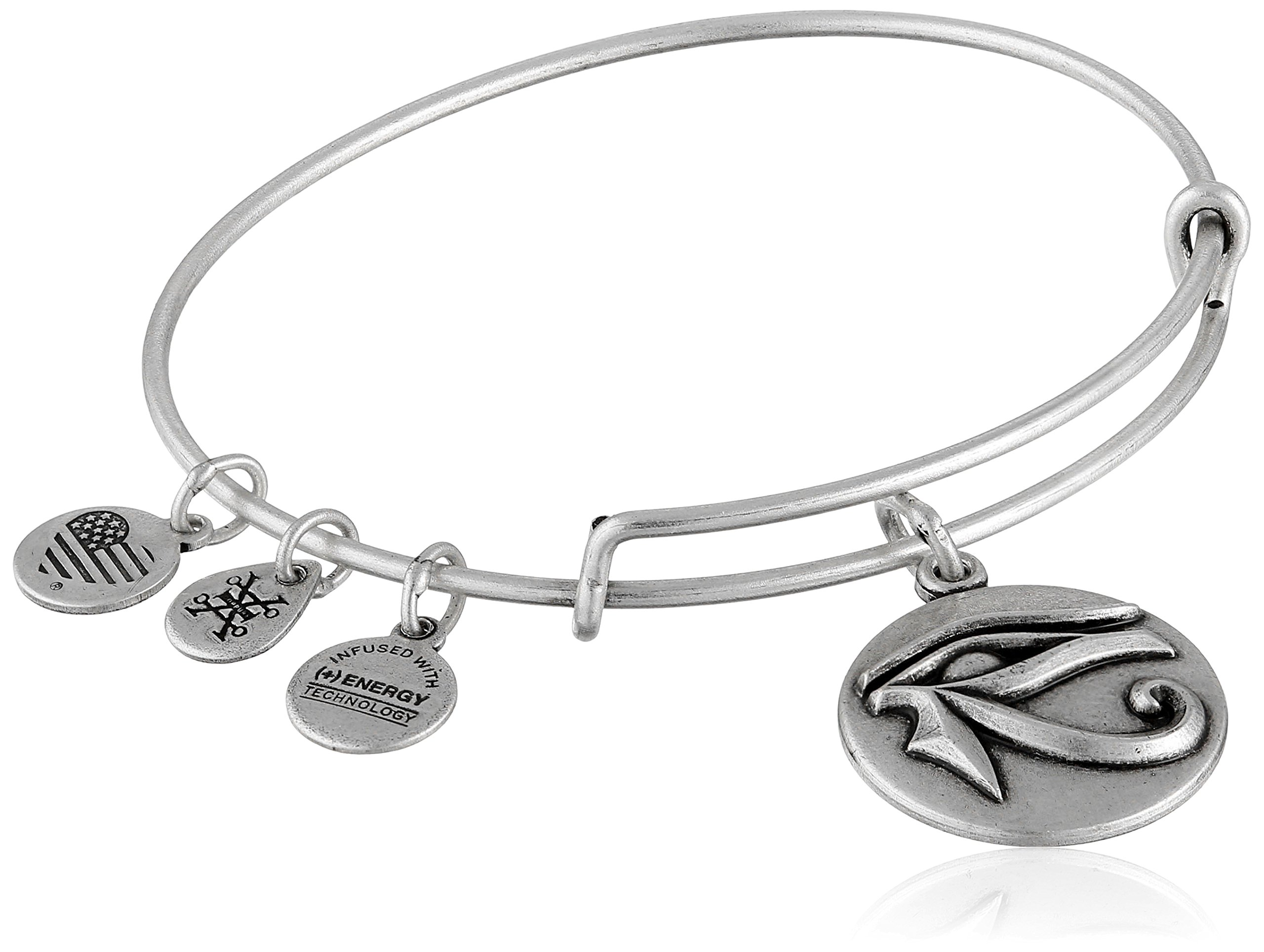 Alex and Ani Eye of Horus III Expandable Rafaelian Silver Bangle Bracelet
