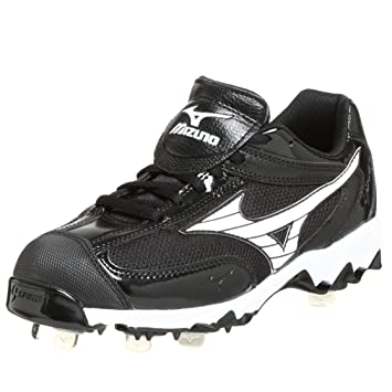 the latest 5cccd 3e404 Mizuno Women s 9-Spike Swift FP Cleat,Black White ...