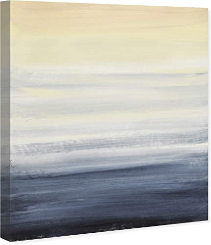 Amazon Brand Stone Beam Modern Abstract Blue and Tan Ocean Print Wall Art on Canva