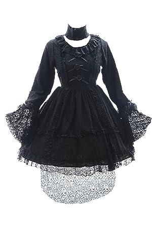 Kawaii-Story JL de 609 Negro Punta Lace Vampiro Gothic Lolita Vestido Disfraz Dress Cosplay