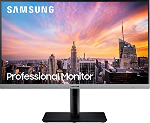 Samsung Business SR650 Series 24 inch IPS 1080p 75Hz Computer Monitor for Business with VGA, HDMI, DisplayPort, and USB Hub, 3-Year Warranty (S24R650FDN), Black