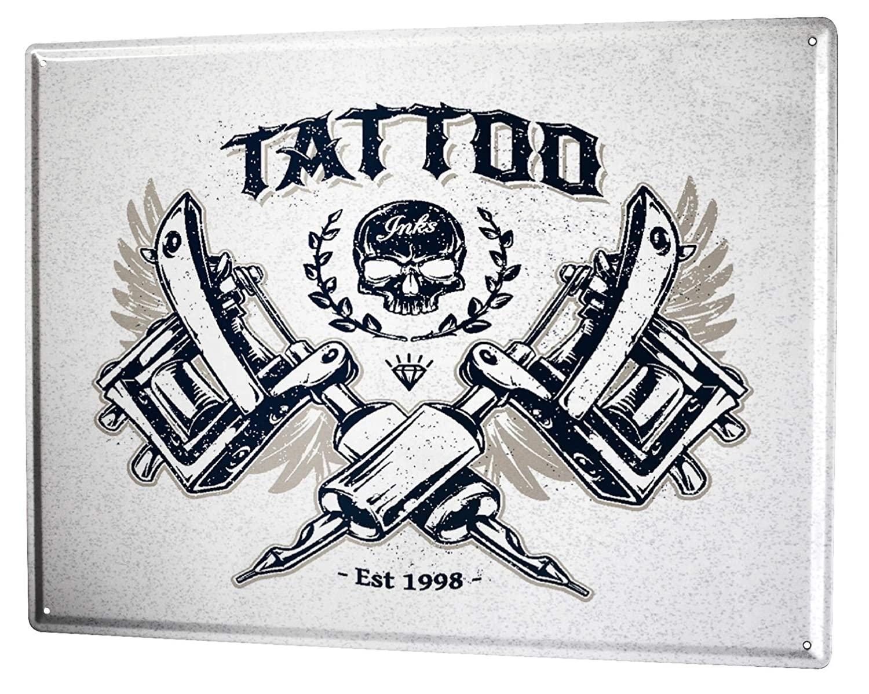 Blechschild Nostalgie Tattoo