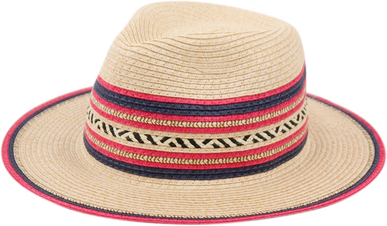 Cute Straw Fedora Hat W/...