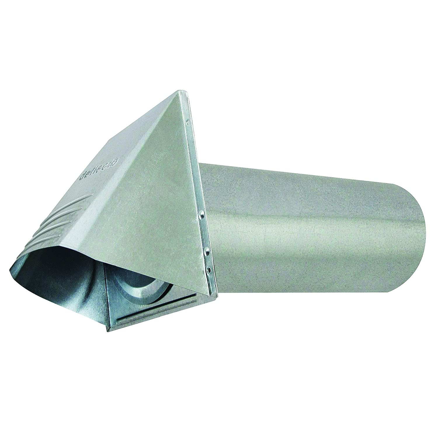 "Deflecto Dryer Vent, Wide Mouth Galvanized Vent Hood, 4"", Silver (GVH4NR) 4"""