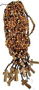 LION OF JUDAH MARKET Dozen 12pcs Authentic Olive Wood Beads Jesus Rosaries Handmade Nazareth Holy Land