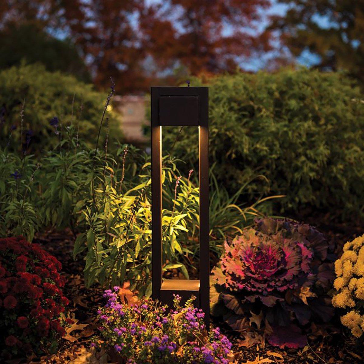 WAC Lighting 6641-30BZ Park LED 12V Bollard in Bronze Finish 3000K, 12 Volts
