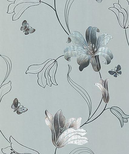 Arthouse Opulence Daybreak Duck Egg Wallpaper 891102 Glitter Shimmer
