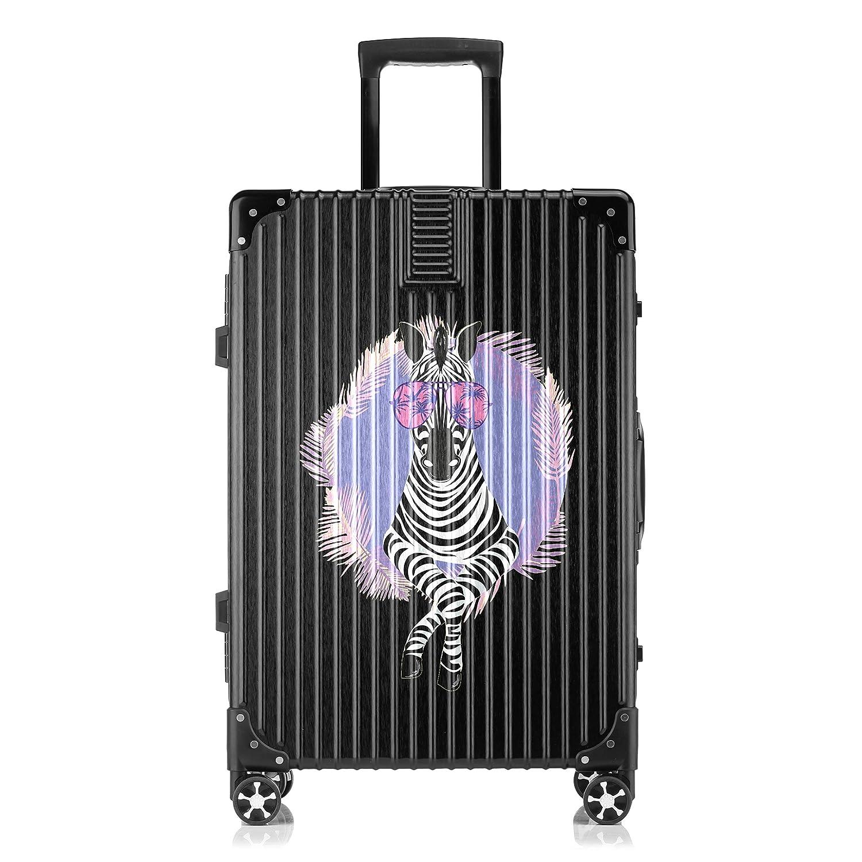 GSHCJ スーツケース かわいい動物 キャリーケース 20インチ おしゃれ ブラック Tsaロック搭載 プリント ハード 超軽量 軽い 機内持込 ロックファスナー 旅行 ビジネス 出張 海外 修学旅行 丈夫 便利 レディース メンズ 学生 B07RZ6XDKF