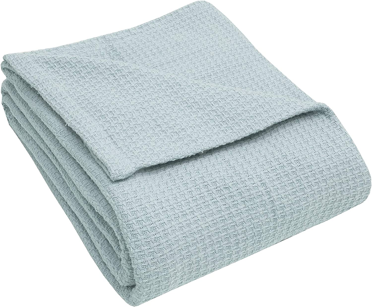 Elite Home Products Inc. Grand Hotel Cotton Blanket, Seaglass, King