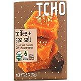 TCHO Organic Milk Chocolate Bar, Toffee And Sea Salt, 2.5 Ounce