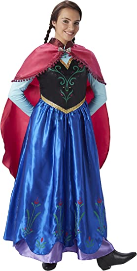 Frozen - Disfraz de princesa Anna para mujer, talla S adulto ...