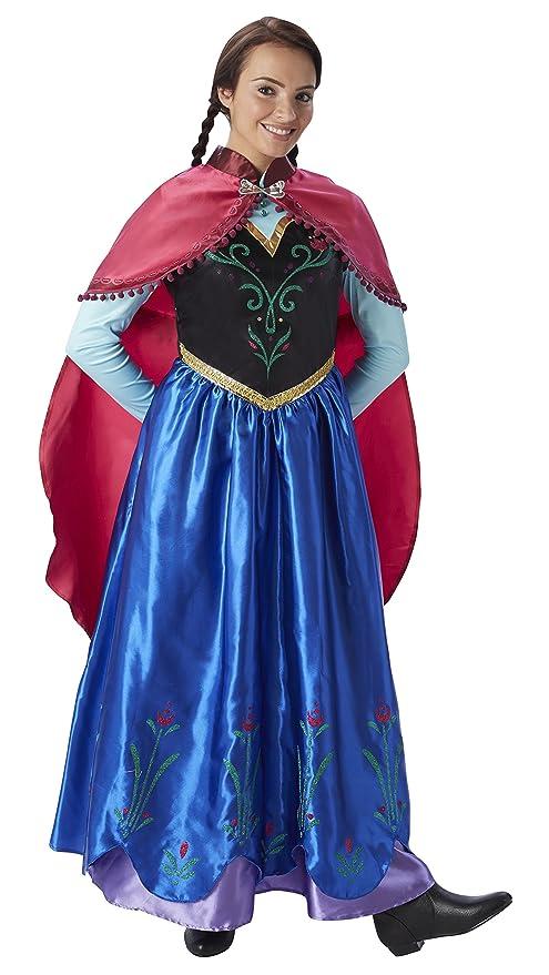 Frozen - Disfraz de princesa Anna para mujer, talla M adulto (Rubies 810414-
