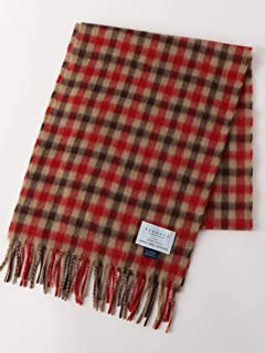 Green Label Relaxing Wool Angora Scarf 3236-499-0906: Mid Brown