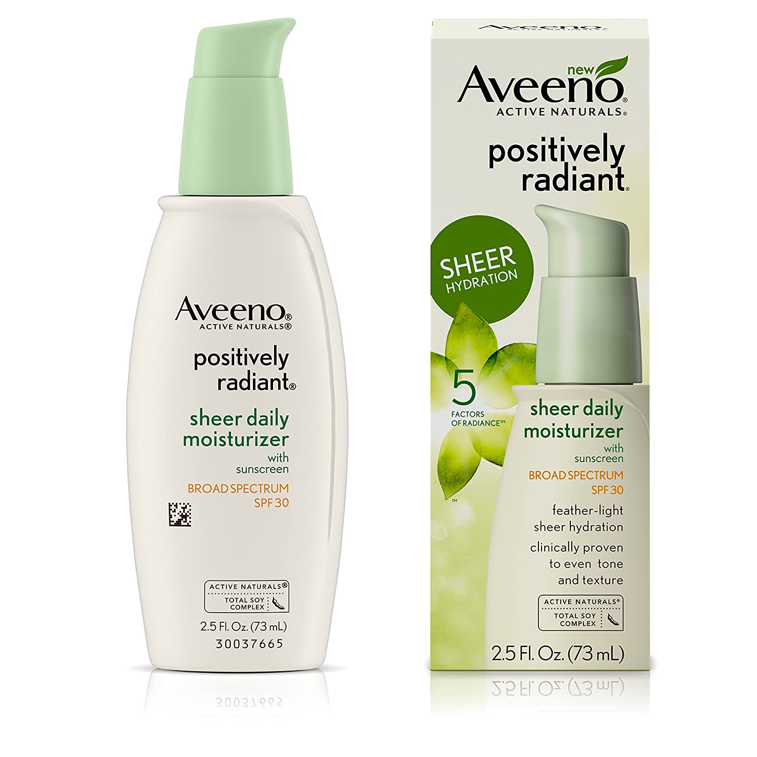 Amazon.com : Aveeno Positively Radiant Sheer Moisturizer Spf#30 ...