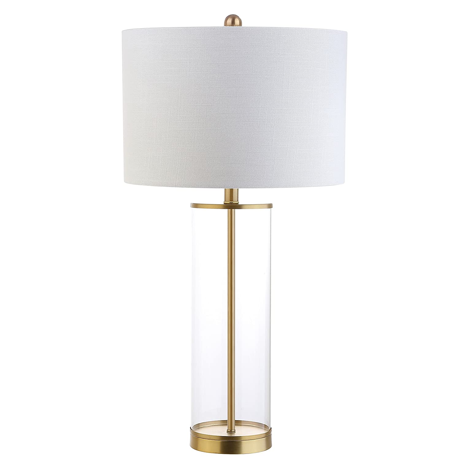 """Collins 29.25"""" Glass LED Table Lamp, Brass Gold, Modern, Contemporary, Bulb Included"""
