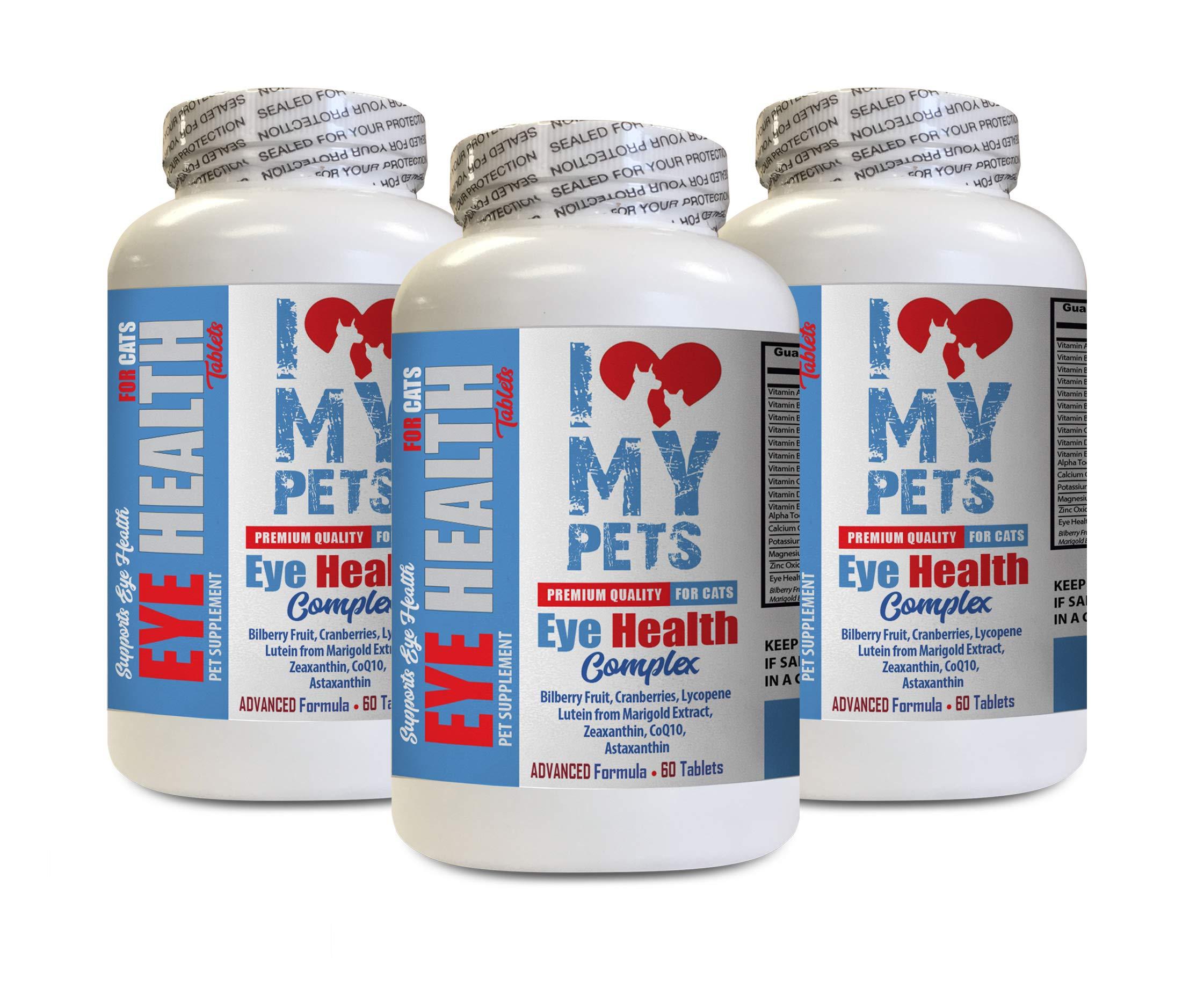 I LOVE MY PETS LLC cat Vision Supplement - CAT Eye Health Complex - Premium Benefits - Real Support - cat coq10-3 Bottles (180 Treats)