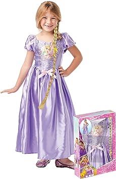 Generique - Disfraz Princesa Rapunzel con Lentejuelas y Trenza ...