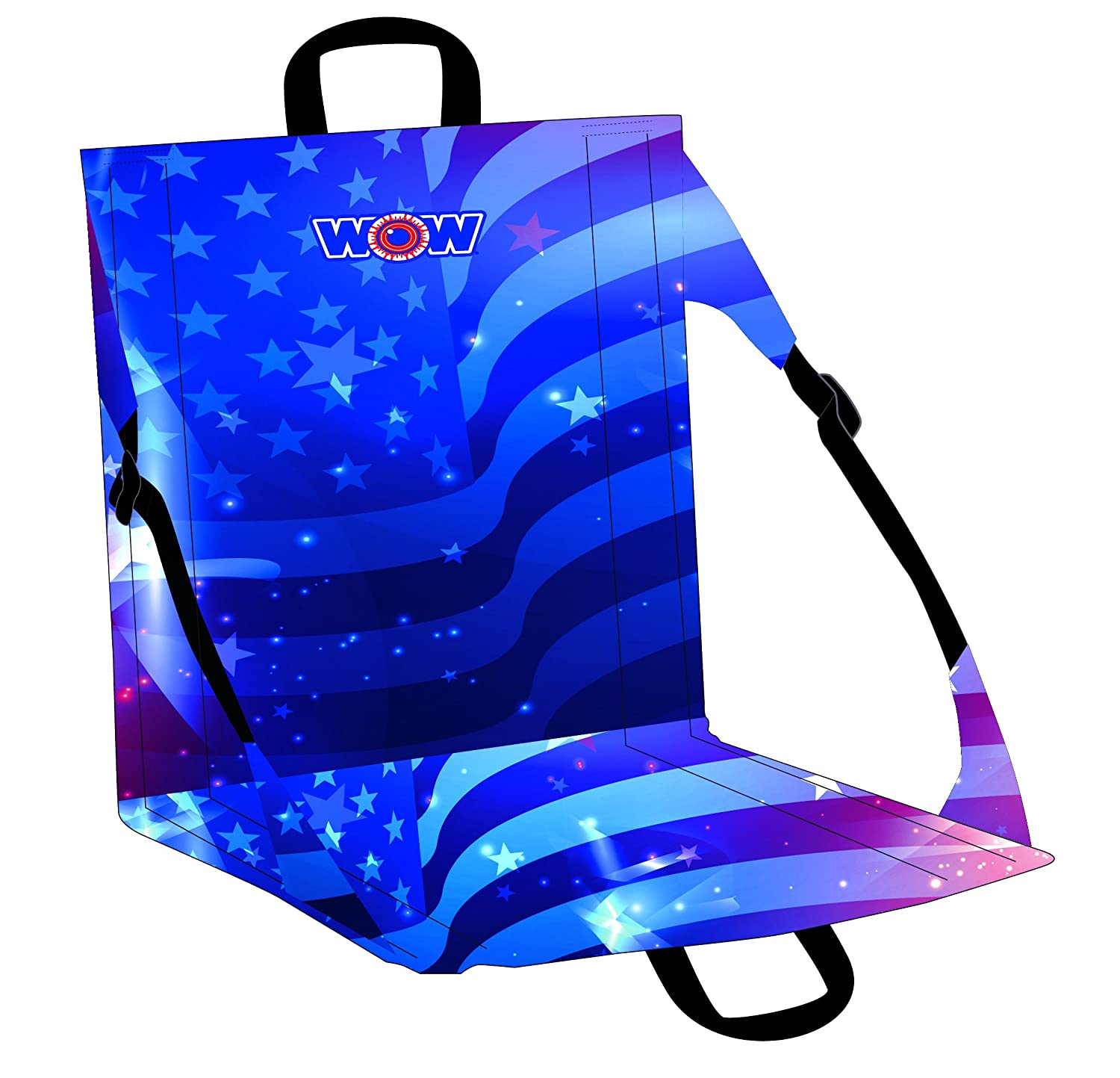 Adjustable and Lightweight Beach to Stadium Seat Collapsible WoW World of Watersports Damp Proof Fun Patterns Americana Flag 18-5510