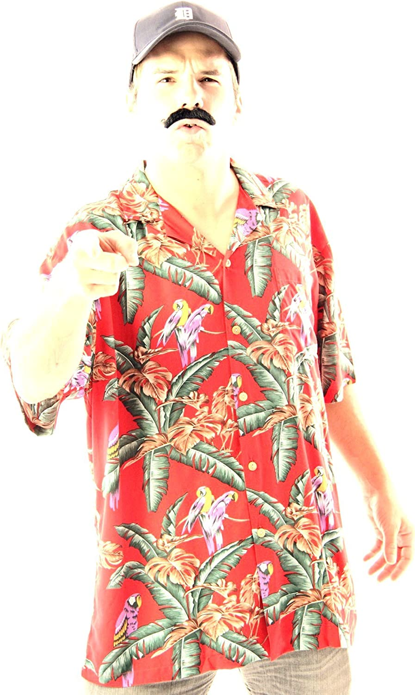 MENS 1980/'S MAGNUM HAWAIIAN SHIRT FANCY DRESS COSTUME