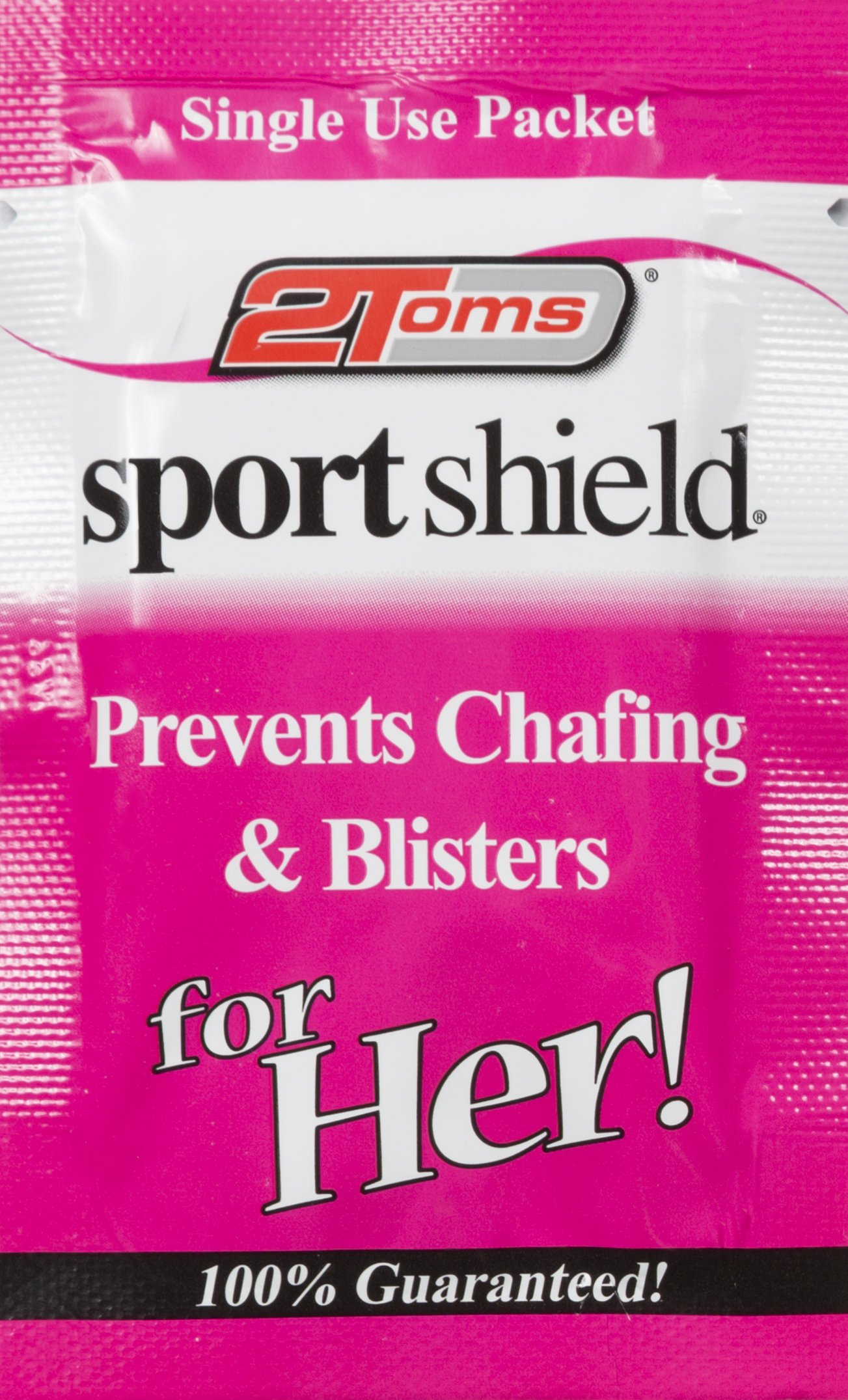 2Toms SportShield for Her Chafing and Blisters Prevention Single Use Pack (10-Towelettes)