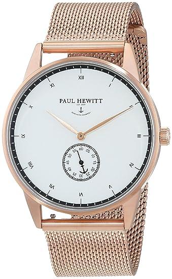 Paul Hewitt Reloj analogico para Unisex de Cuarzo con Correa en Acero Inoxidable PH-M1-R-W-4M: Amazon.es: Relojes
