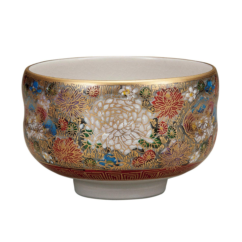 Kutani tea bowl Hon-kinhanatsume
