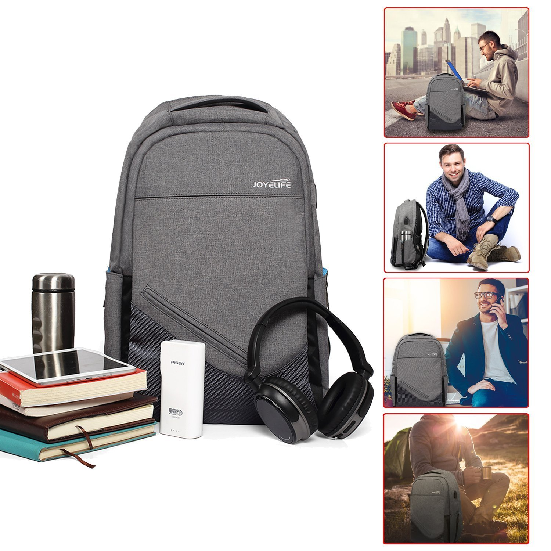 JINTU Anti-Theft Oxford 30L/Grey Backpack Shoulder Camera Bag Waterproof Laptop Rucksack School Case, Fit 15.6 inch Notebook -5 Stars Rated Product in USA UK