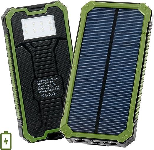 LEVIN Caricatore Solare, USB Pannello Solare 10000mAh