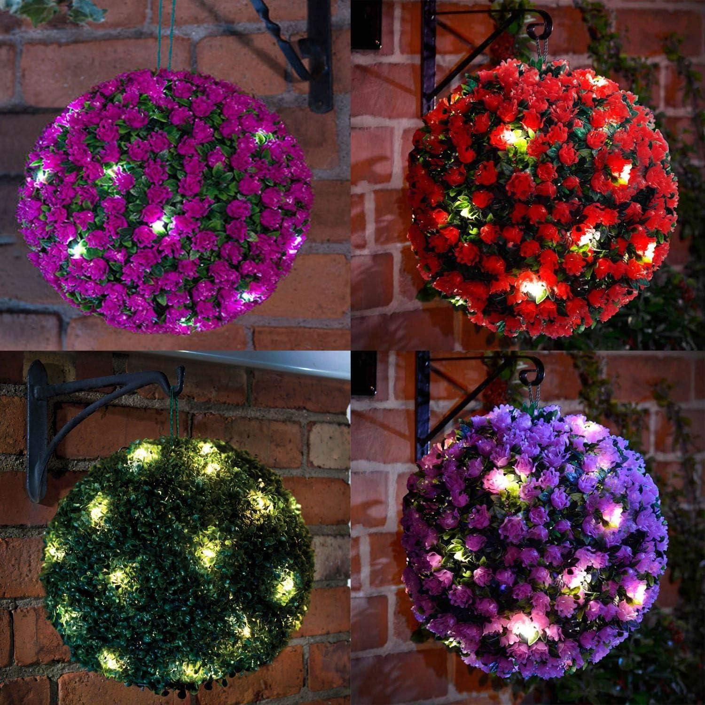 RHP Boule de buis avec 20 LED Solaire /Ø 27 cm