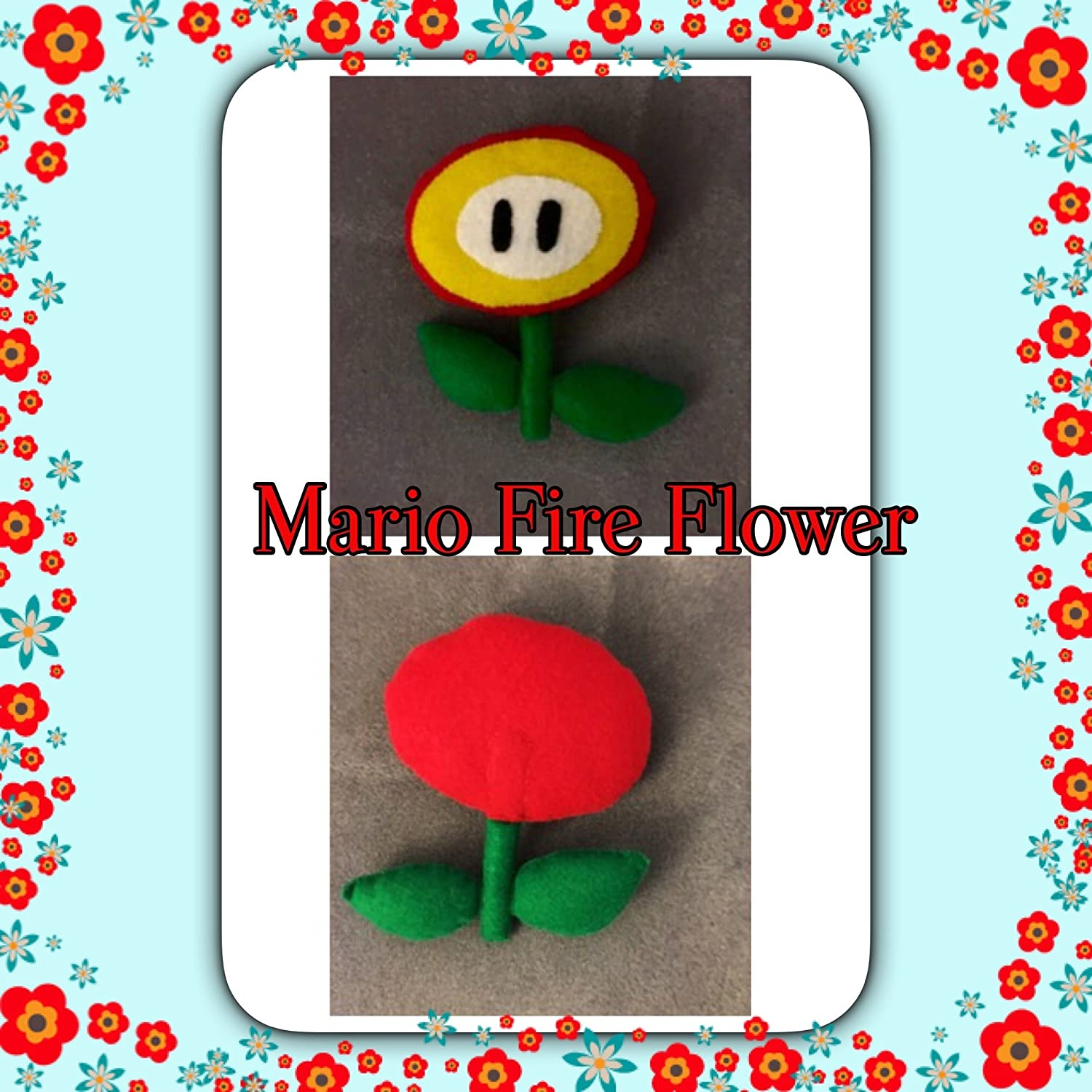 Fire Flower or Ice Flower Super Mario Bros Power Up Plush Doll ~Hand-sewn with love