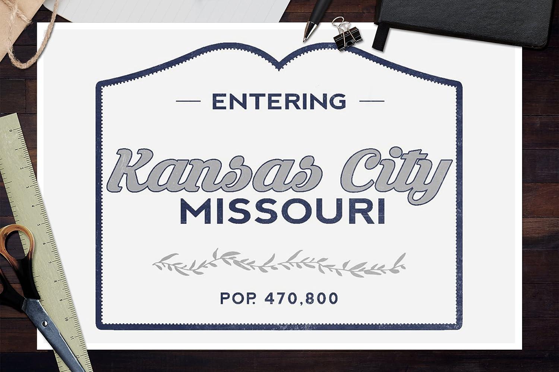 24x36 SIGNED Print Master Art Print - Wall Decor Poster Now Entering 67195 Blue Kansas City Missouri