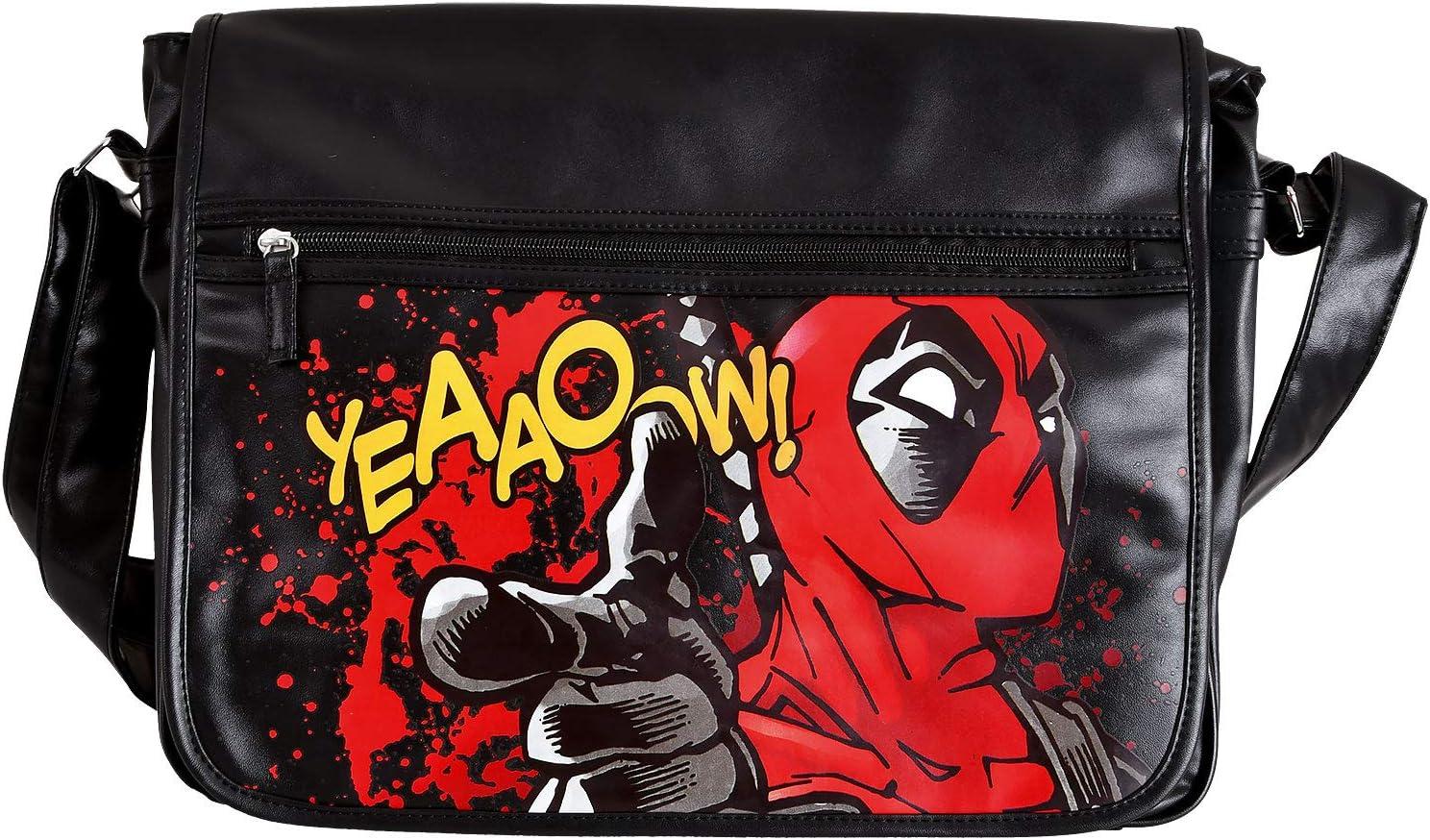 Deadpool College Bag Comic 41x33x11cm Marvel Elvenwald Nero Rosso