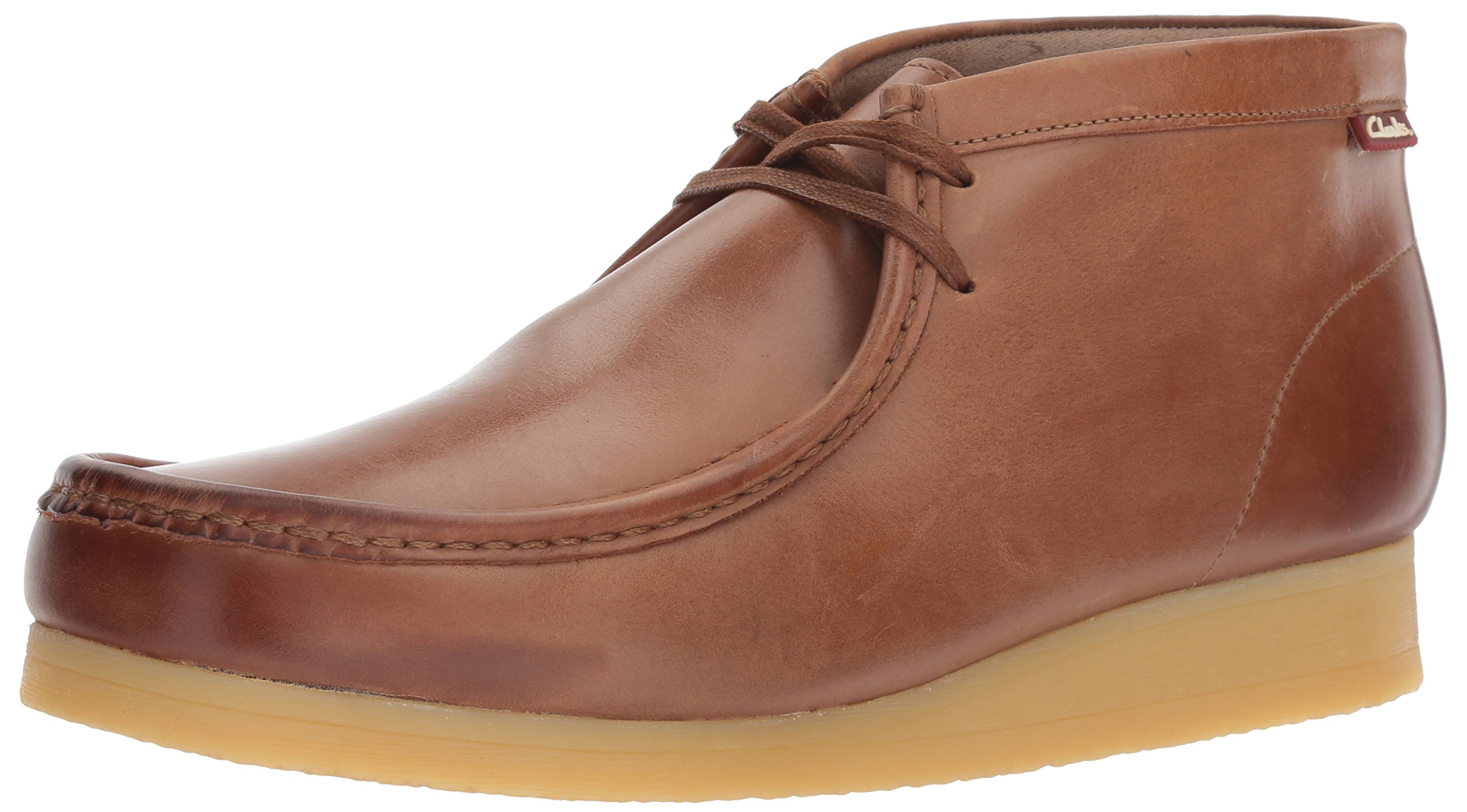 CLARKS Men's Stinson Hi Chukka Boot, Dark Tan Leather, 7.5 M US