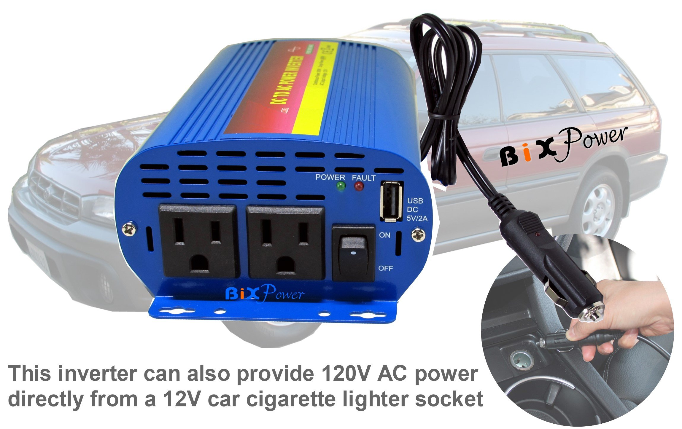 BiXPower XP200 Pure Sine AC Power Pack - 150W Pure Sine Wave AC Power Inverter with 192Wh Lithium Ion Battery by BiXPower (Image #5)