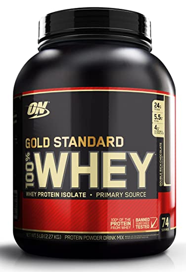 Optimum Nutrition Gold Standard 100% Whey Protein Powder, Double Rich Chocolate, 5 Pound