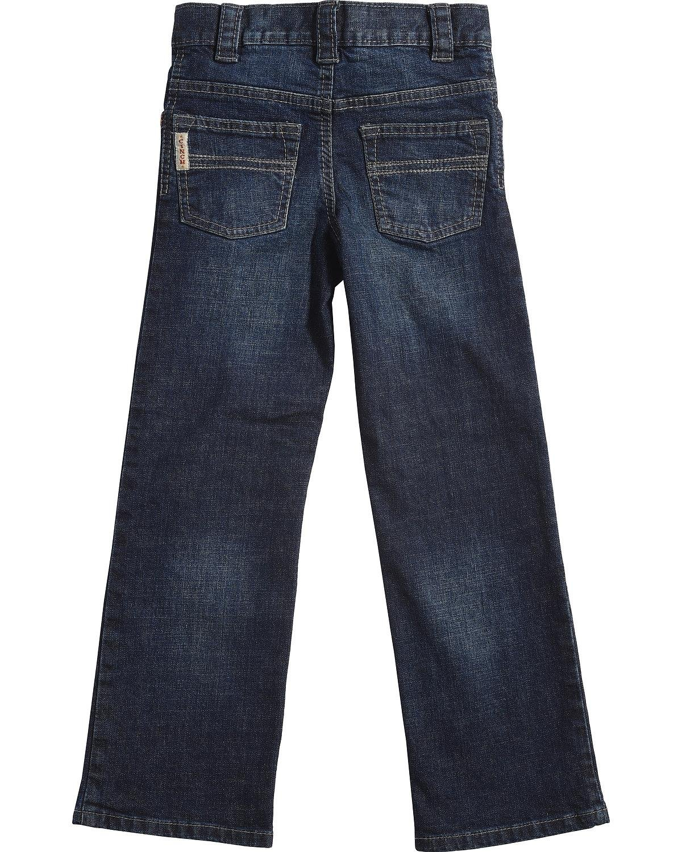 Cinch Boys' Carter Dark Wash Slim/Regular Fit Jeans (4-7) Boot Cut Blue 7 SLM