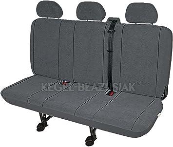 Zentimex Z938622 Sitzbezüge Dreierbank Stoff Grau Auto