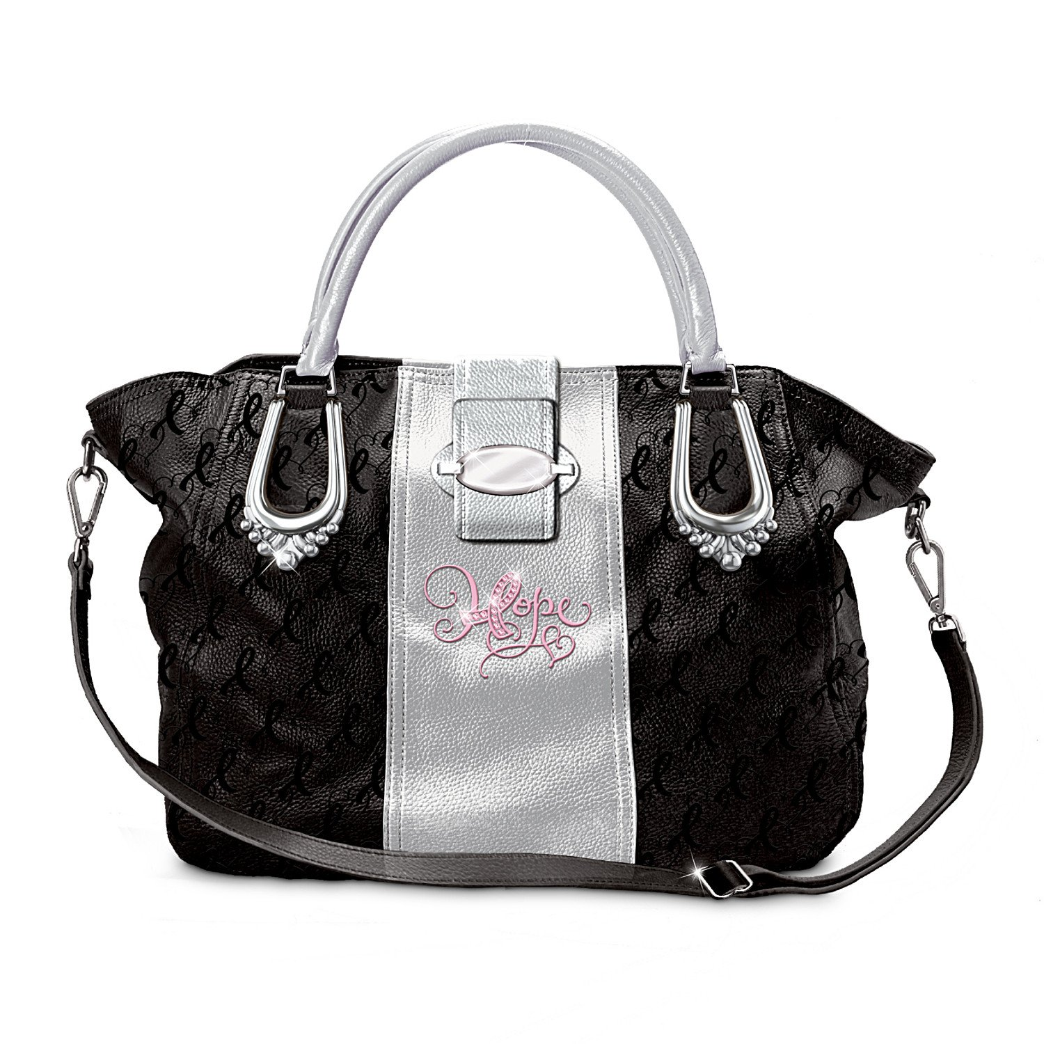 Women's Faux Leather Handbag: Ribbons Of Hope by The Bradford Exchange