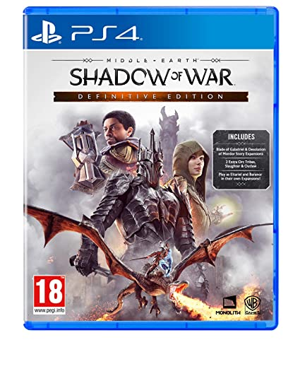 Middle Earth: Shadow of War Definitive Edition (PS4): Amazon