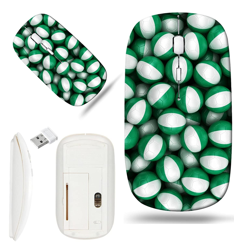 Amazon.com: Luxlady Wireless Mouse White Base Travel 2.4G ...
